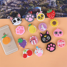 Cute cartoon extension phone holder for iPhone 6 7 8 X universal car fixed lazy hand finger ring holder flexible Desktop stand