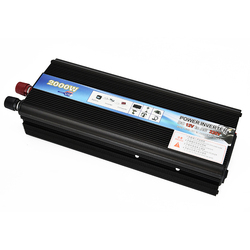 Car Inverter 12v 220v 2000W Power Inverter DC To AC 12V To 220V Car Voltage Converter for PC Hair Dryer with USB Car Charger