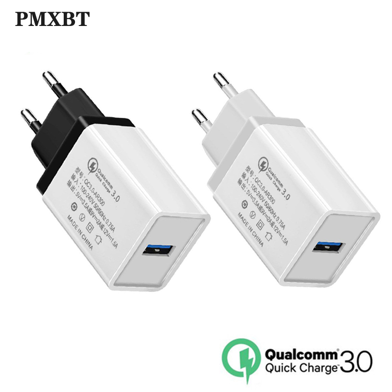 <font><b>QC3.0</b></font> <font><b>USB</b></font> <font><b>Charger</b></font> EU Plug Fast Charging Travel Wall <font><b>Chargers</b></font> For Samsung Huawei Xiaomi Mobile Smartphone Power Adapter <font><b>USB</b></font> Cable image