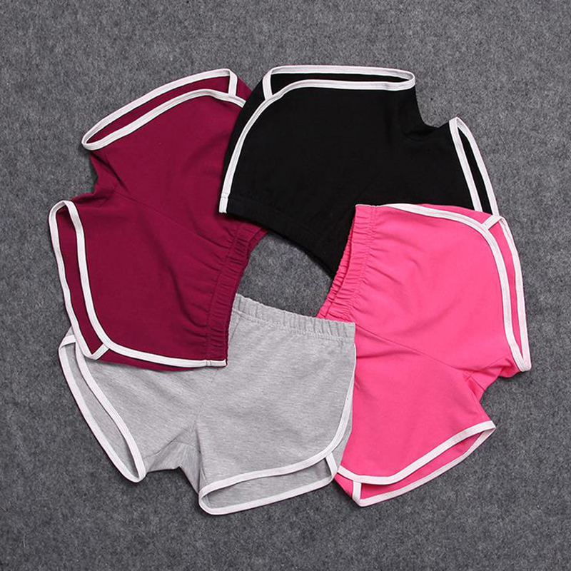 CALOFE Women Short Pant Casual Lady All  Loose Solid Soft Cotton Leisure Female Workout Waistband Skinny Stretch Shorts New 2021