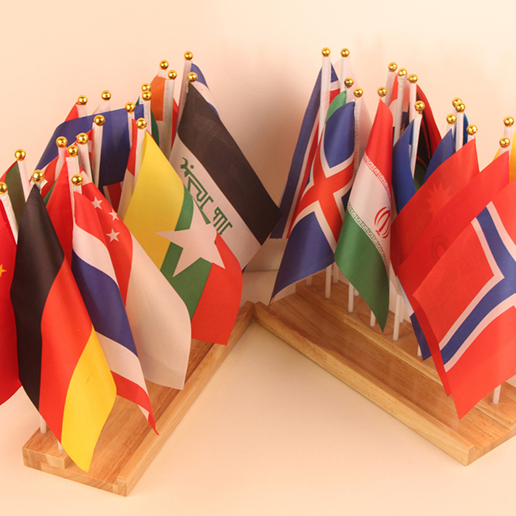 Montessori jouets éducatifs 36 drapeaux de pays du monde avec Base en bois, haut de forme de boule ronde de sécurité, matériau Non toxique