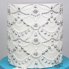 Yueyue sugarcraft tamanho grande jóias casamento molde de silicone fondant molde ferramentas decoração do bolo de chocolate gumpaste molde