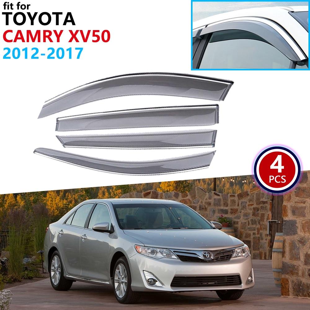 For Toyota Camry Aurion Daihatsu Altis XV50 2012~2017 Window Visor Vent Awnings Rain Guard Deflector Shelters Accessories 2013
