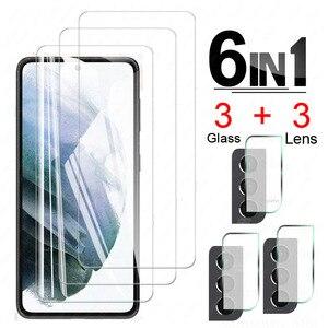 Закаленное стекло для Samsung Galaxy S21 Plus, Защитное стекло для экрана Samsung S21 + S 21 + Защитная пленка для объектива камеры