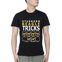 Cão beagle teimoso truques de fitness t-shirts dos homens t camisa frete grátis masculino tshirts