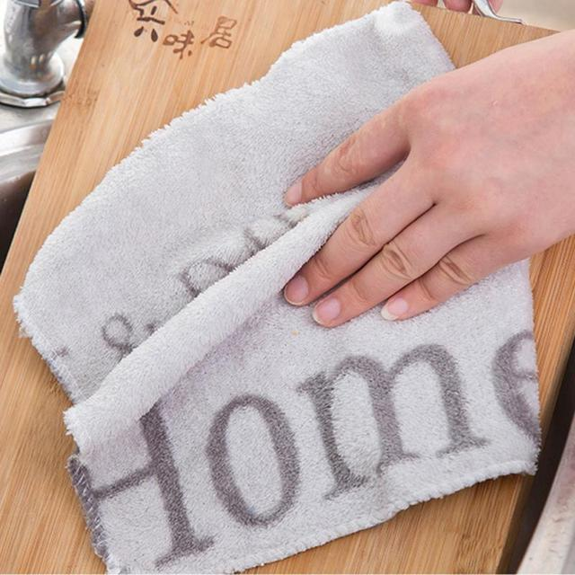 Kitchen Bamboo Fiber Anti-Oil Wipe Cloth