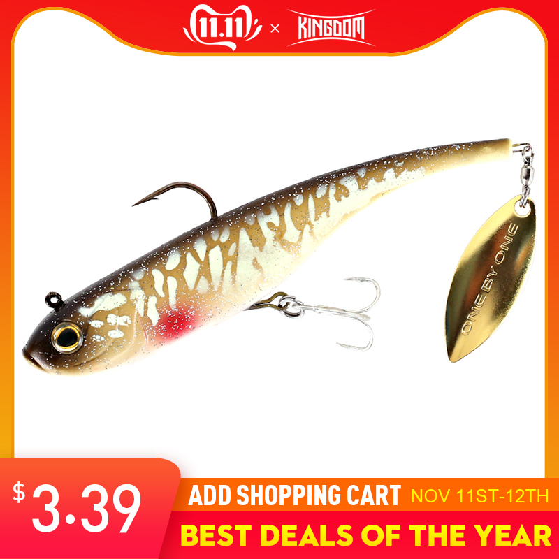 Kingdom 2019 Hot Fishing lures 200mm 52g Soft Baits With Spoon On Tail Sinking Good Action Artificial Bait PVC Lures