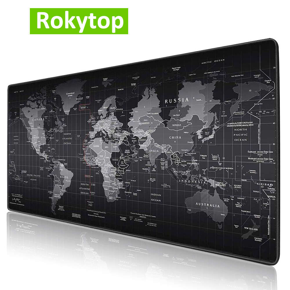 Rokytop Gaming MousePad Large Mouse Pad Computer Mause Mat Rubber Gamer Mause Carpet PC Desk Mat Keyboard Pad Carpet For Mouse