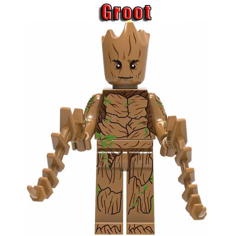 ブロック木アイアンジョーカー Thanos さんハルクデッドプールガーディアン Yondu ロケットアライグマ星主フィギュアおもちゃマーベルアベンジャーズブロック