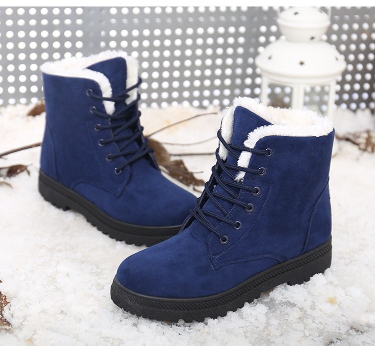 Women Boots Winter Ankle Boots For Women Winter Shoes Female Snow Boots Botas Mujer Warm Plush Shoes Woman Plus Size 44