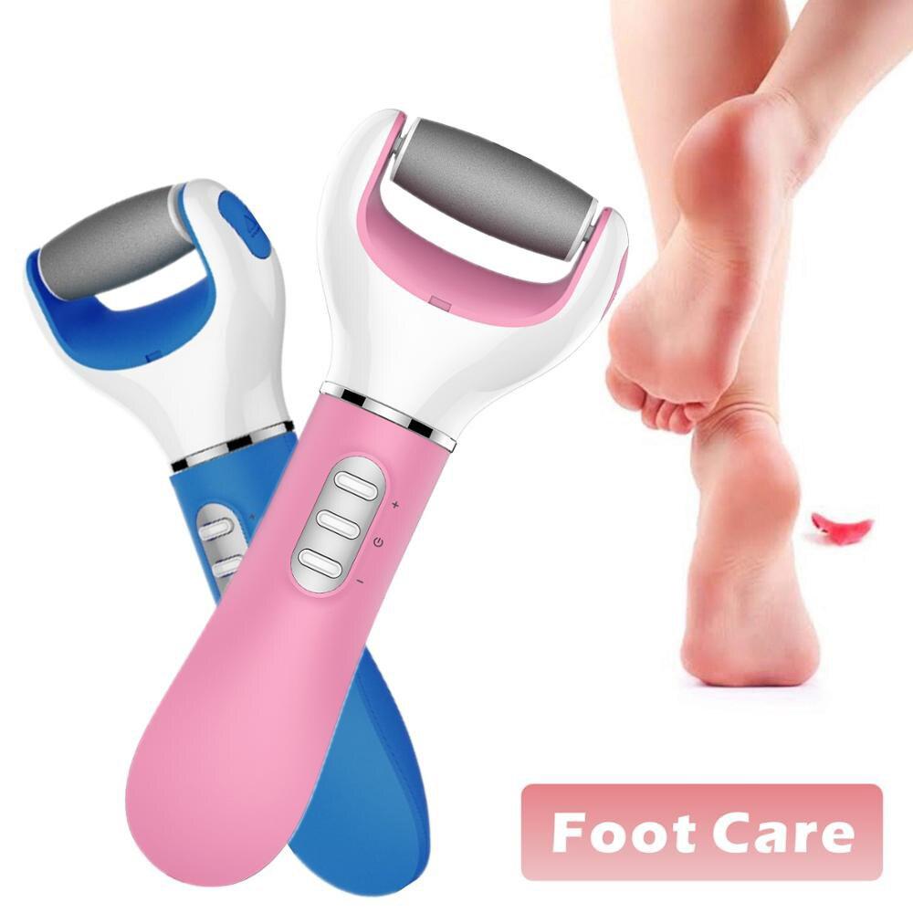 Электрический педикюр пилка для ног средство для ухода за ногами жесткое удаление омертвевшей кожи USB Отшелушивающий пятка для удаления ко...