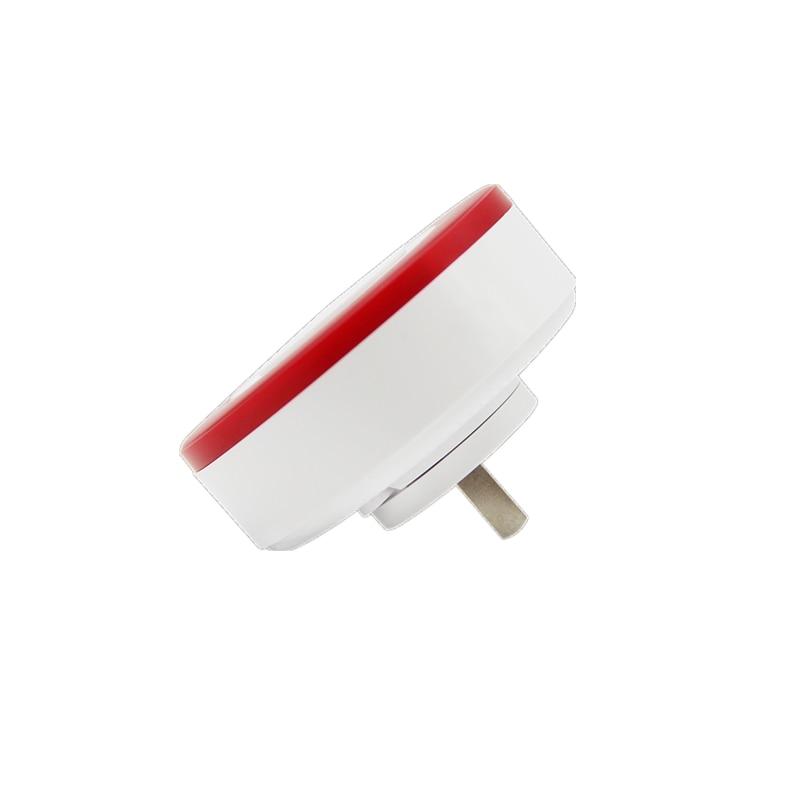 Hf2af74b1e5604ee7a6cf1dd8051585d0O - Heiman Nice Design Zwave Strobe flash Siren 95DB big sounds Alarm With EU or US Plug for option