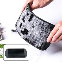 160 grades mini cubo de gelo esmagado molde claro silicone cubo de gelo bandeja diy cubo de gelo molde ferramentas de cozimento 1pcs