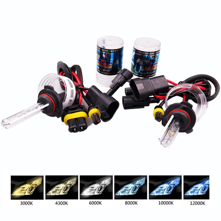 HID <font><b>Xenon</b></font> headlight 2 PCS 35W <font><b>H1</b></font> H3 H7 H8 H9 H11 HB3 HB4 881 Car <font><b>Xenon</b></font> <font><b>Lamp</b></font> H10 30000K 4300 3000 6000 Warm White Auto Headlight image