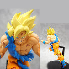 Anime Dragon Ball Z Super Saiyan fils Goku Kakarotto choc Action Figurine jouets Dragon Ball poupée Figurine PVC modèle à collectionner(China)