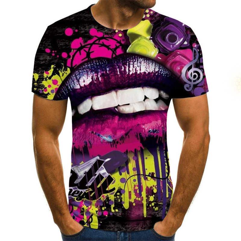 Pepsi рисунок 3D с коротким рукавом мужские футболки летняя футболка мужские повседневные Harajuku уличные дышащие футболки Азиатский код 6XL
