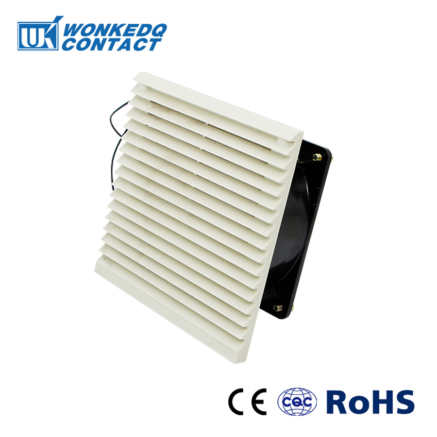 Double Ball Bearing Fan Ventilation Filter Set Grille Louvers Blower Exhaust Ventilation System  Fan Filter FK-3322-230 With Fan
