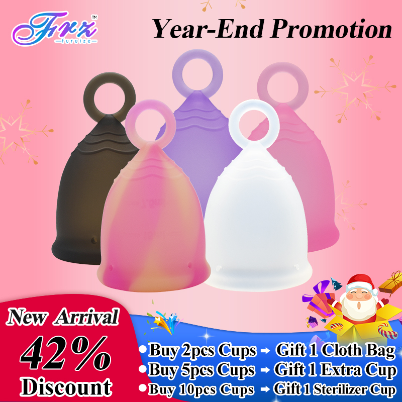 Free shipping Ring Cup Copa menstrual cup 100% Medical Grade silicone Feminine Hygiene Lady health care