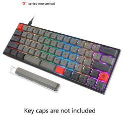 1 juego intercambiable GK64XS, Kits de teclado mecánico personalizado Pcb, interruptor RGB tipo c