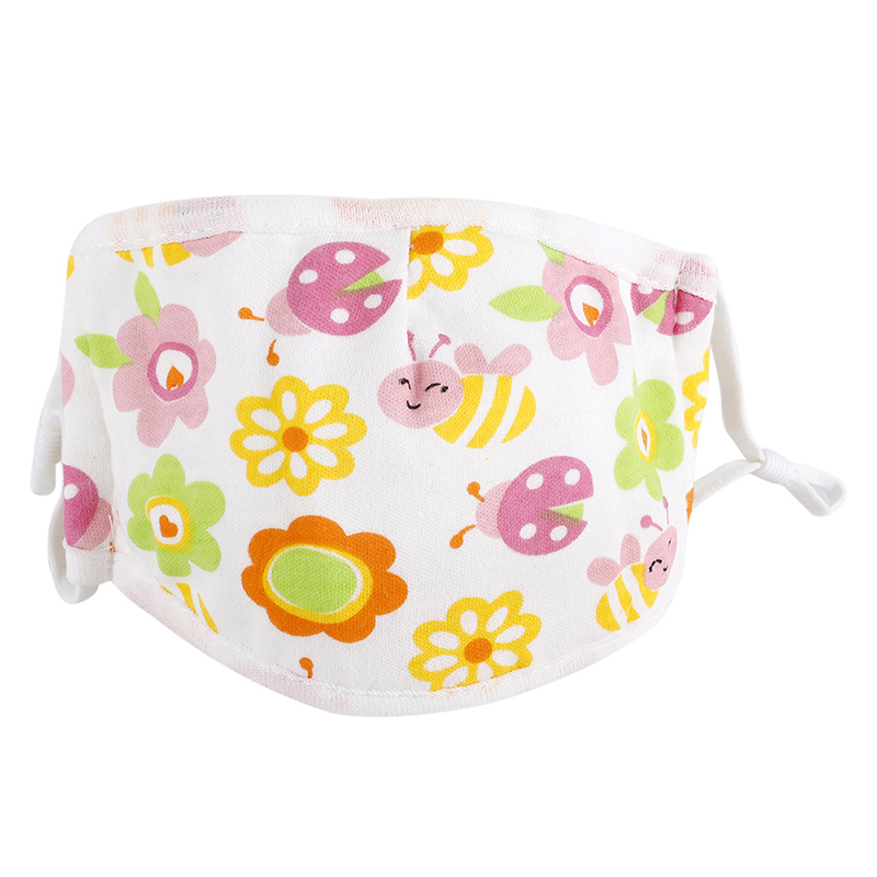 0-5 Years Baby Mask Five-layer Adjustable Cartoon Printed Child Baby Comfortable Cotton Gauze Mask 1 1