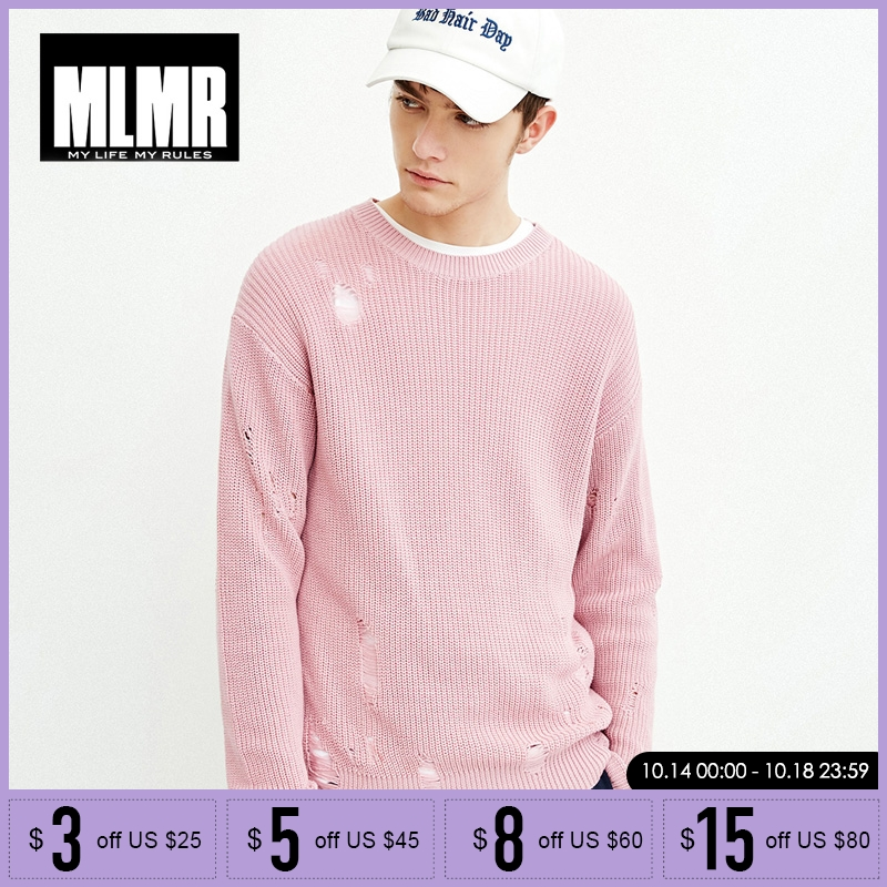 MLMR Men's Loose Pure Cotton Knitted Sweater  | 218124504