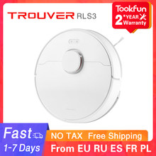 TROUVER LDS Robot Vacuum-Mop Finder RLS3 for home Cleaner Sweeping Washing Mopping 2000PA cyclone Suction Dust APP