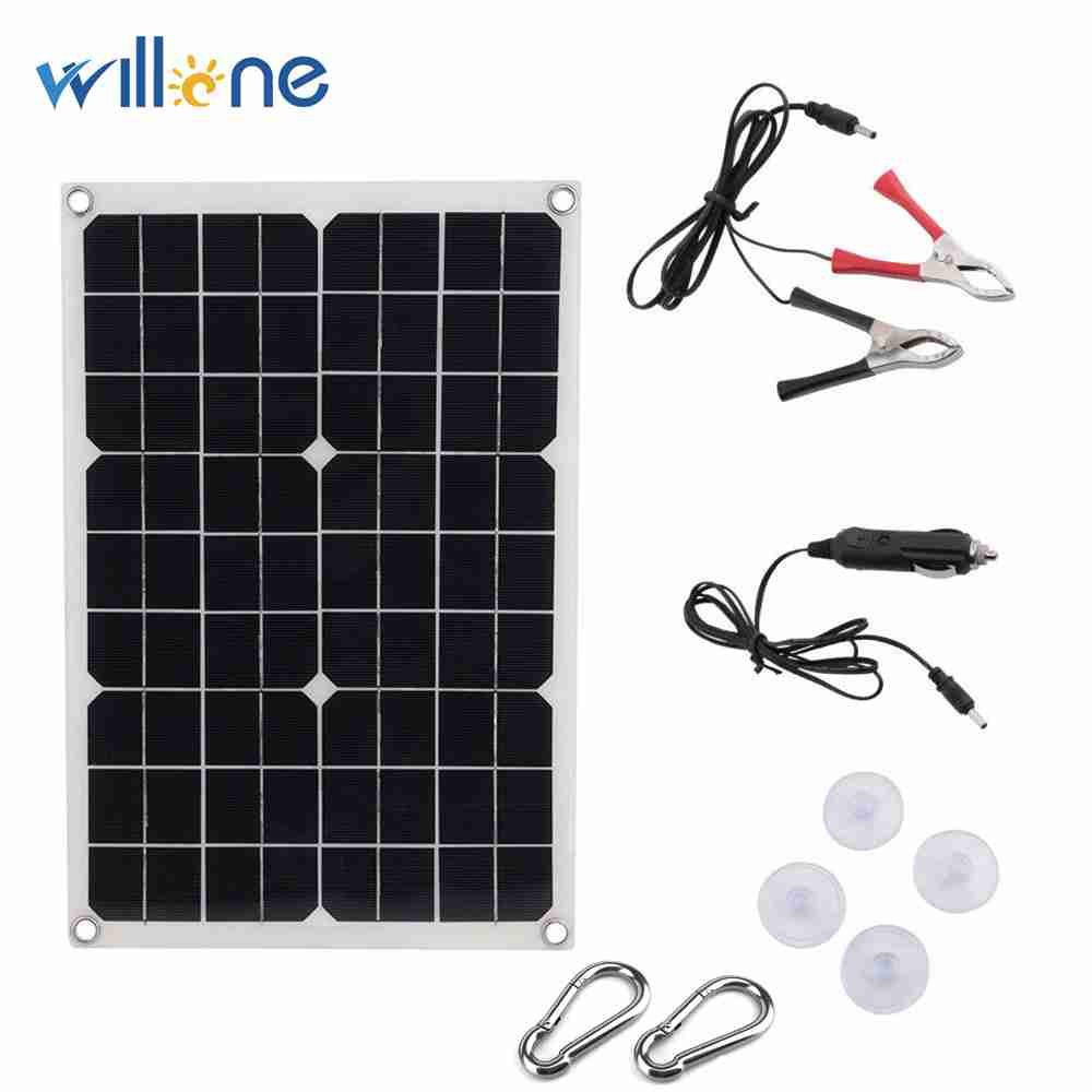 18W flexible Solar Panel 5V USB  Portable Monocrystalline Solar charger Cell for Car Yacht RV Charging Outdoor Emergency Light