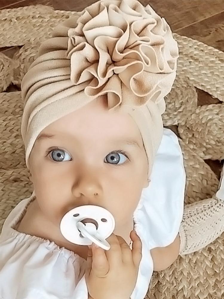 Baby Hat Bonnet Beanie Cap Headwraps Turban Flower Toddler Infant Lovely Soft