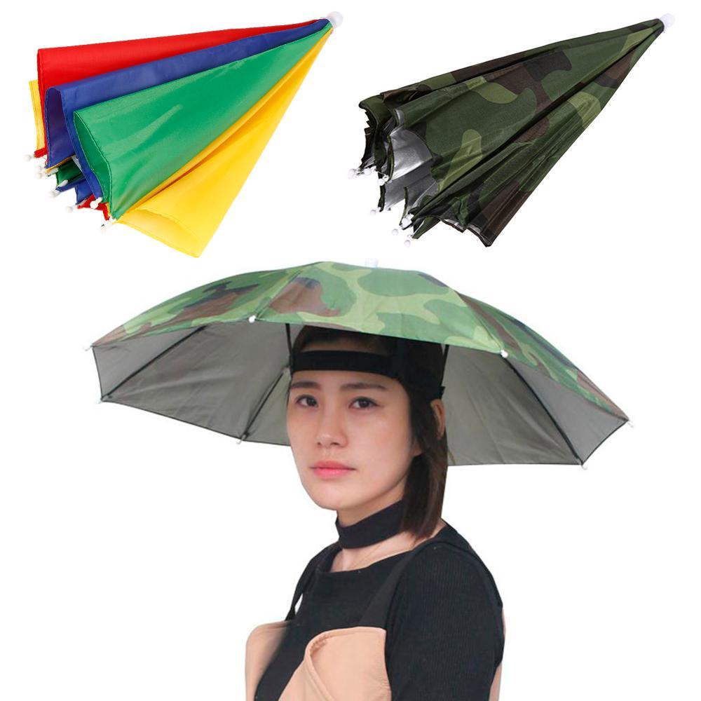HobbyLane Outdoor Fishing Cap Foldable Sun Umbrella Hat Golf Camping Hiking Headwear Cap Sunscreen Shade Head Hats Sports Cap