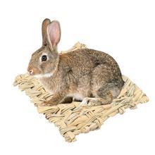 Hamster Grass Mat Hay Net Hand Woven Straw Guinea Pig Rabbit Rectangular Dry Small Pets Nest Pad
