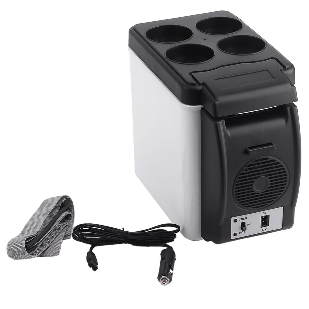 Small Refrigerator Fridge-Cooler Mini Camping Warmer Car 12V 6L Home for White Enough-Capacity title=