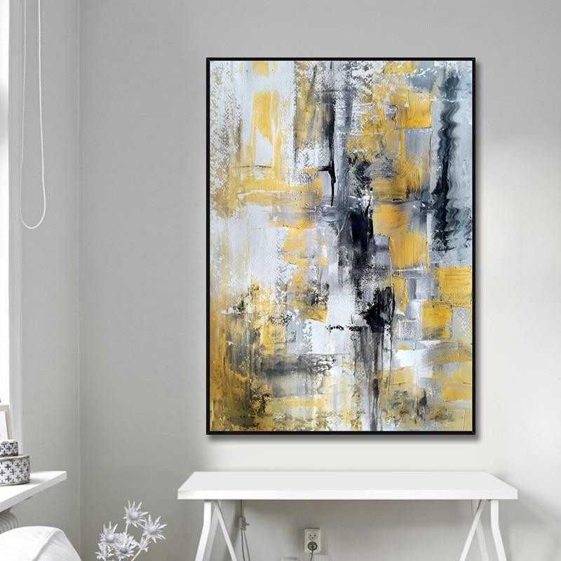 Design simples de alta qualidade pintados à mão moderna pintura a óleo cinza sobre tela arte moderna pintura a óleo para todos os tipos de decoração da parede - 3