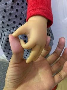 Image 5 - Muñeca Rubia de silicona suave de 70CM para niñas, juguete de princesa de tamaño real, para fotos, regalo de Navidad