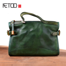 купить AETOO Original handmade leather handbags small bag retro vegetable tanned leather shoulder slung head layer leather art handbag по цене 4259.58 рублей