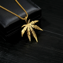 Fashion Maple Leaf Necklace Hemp Pendant NeckLaces For Women Charm Silver Gold Long Chain Choker Men Gift Hip Hop Jewelry