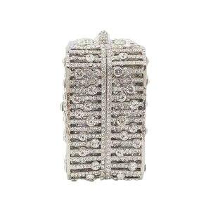 Image 2 - Boutique De FGG Bolso De mano con cristales deslumbrantes para mujer, Cartera De noche con cristales deslumbrantes, para boda, nupcial, para fiesta