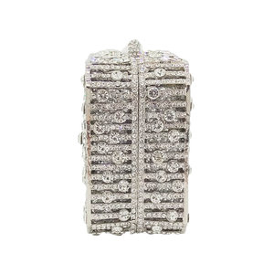 Image 2 - Boutique De FGG Dazzling Crystal Women Evening Box Clutch Bag Wedding Bridal Minaudiere Handbags and Purses Ladies Party Clutch
