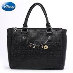 Disney Schulter Taschen Cartoon Frauen Große Einkaufstasche Mickey Maus Pu Dame Handtasche Freizeit Mode Kosmetische Lagerung Reise Rucksack