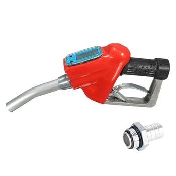 Car Refueling Tool Flow Meter Fuel Gauge Nozzle Digital Fuel Refueling Tool Refueling Nozzle With Flow Meter With Nozzle Distrib