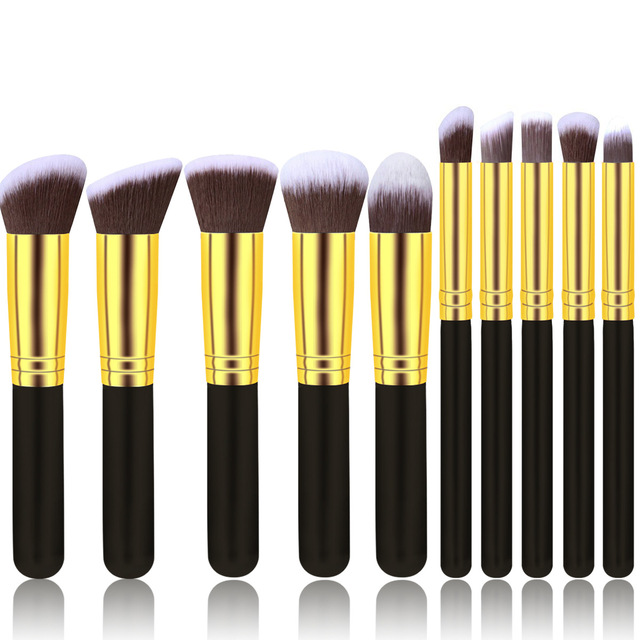 2019 New Arrive 10 Pcs Makeup Brush Set Soft Synthetic Hair Cosmetics Foundation Powder Blending Blush Lady Beauty Makeup Tools 4