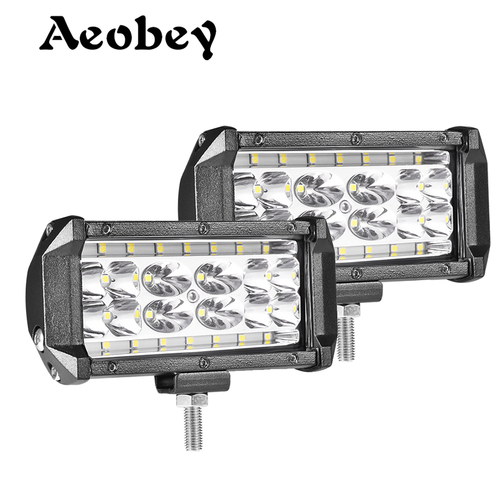 Aeobey 2pcs 5inch 28 Led Light Bar 8400 Lumen Led Headlight For Off Road 4x4 4WD ATV UTV SUV 12V 24V Car Light Work Light Bar