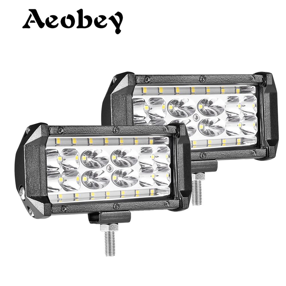 Aeobey 2pcs 5inch 28 Led Light Bar 8400 Lumen Led Headlight For Off Road 4x4 4WD ATV UTV SUV 12V 24V Car Light Work Light Bar
