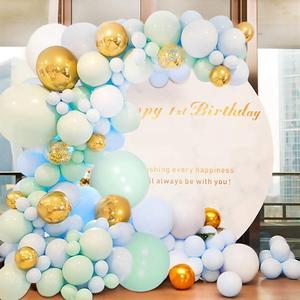 Image 5 - Macarone Balloon Chain Suit Birthday Wedding Birthday Party Balloon Valentines Day Decoration Party Supplies Balloon garland