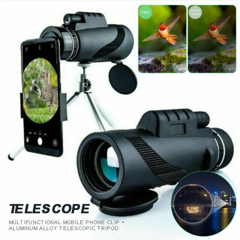 Para smartphone universal portátil 80x100 hd telescópio