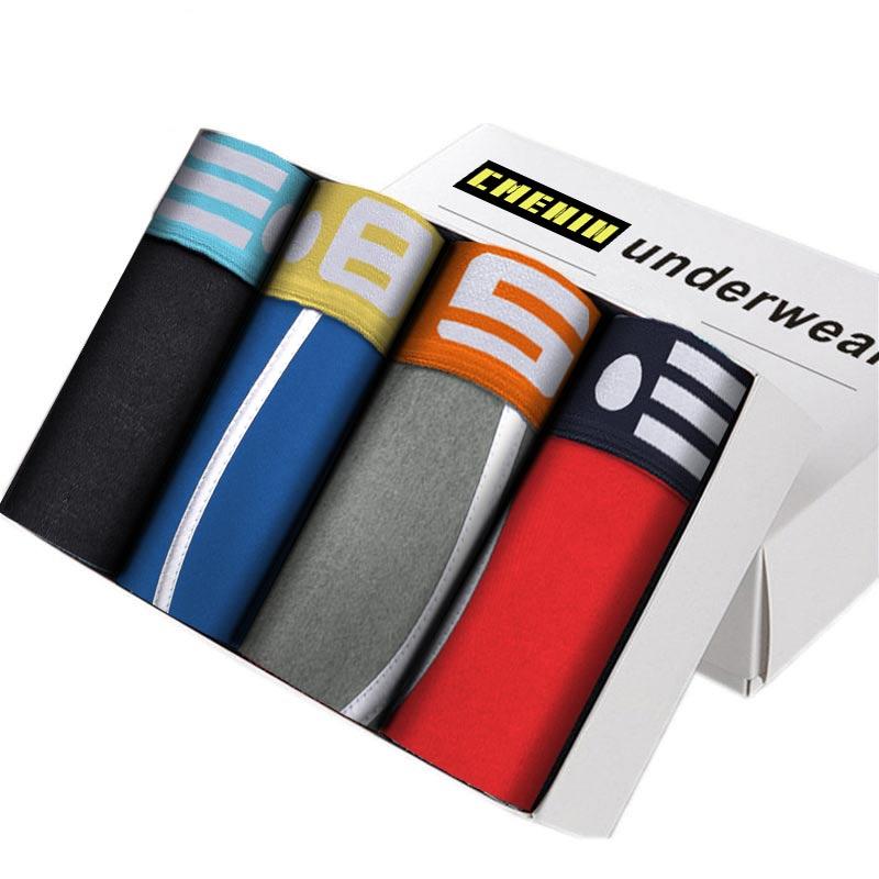 4PC/lot Men Underwear Brand Male Boxers Man Underpants Homme Breathable Boxershorts Mens Cotton Comfortable Men's Patients BS101