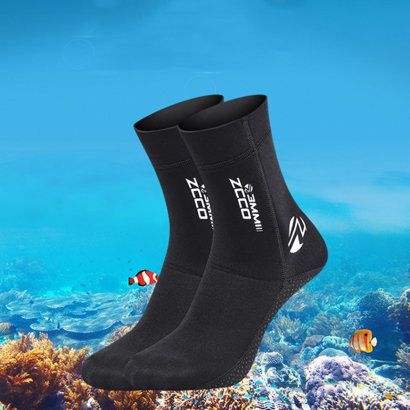 3mm Neoprene Socks Diving Water Boots Anti-slip Swimming Beach Sock Shoes Snorkeling Surfing Warm Sock Shoes Men Women Outdoor