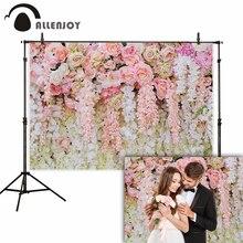 Allenjoy kwiat róży tło ślub mariage walentynki 14 lutego wieczór panieński poliester fotografia studyjna tło