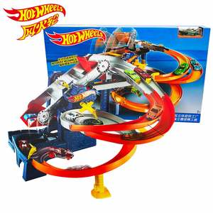 Hot Wheels Roundabout Electric Carros Race Track Model Run Car Train Kids Plastic Metal Hot adventure Toys For Children Juguetes(China)