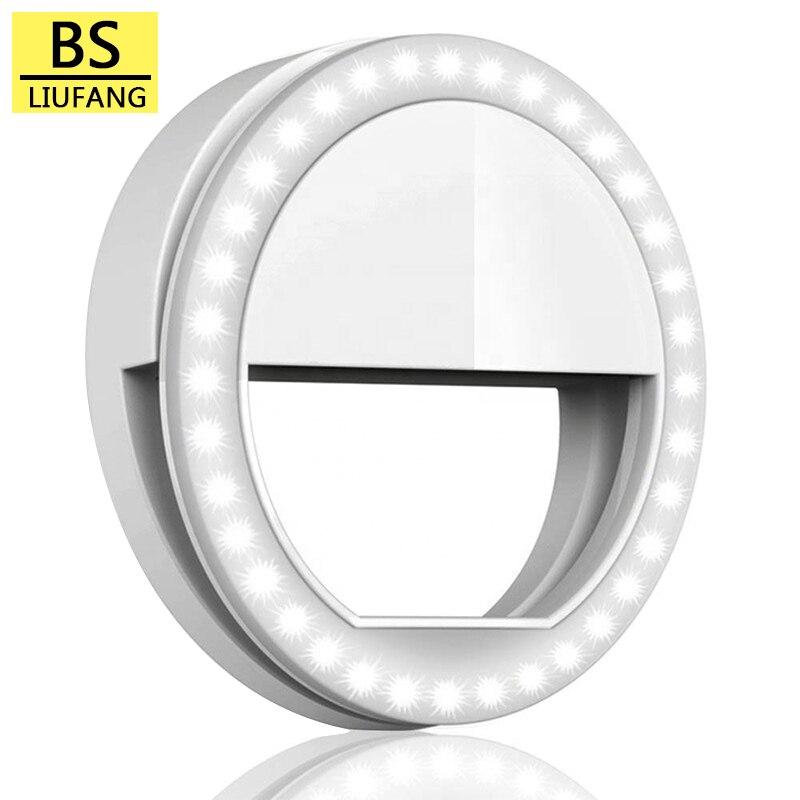 LED Ring Fill Light Portable Mobile Phone Selfie Supplementary Lighting Beauty light Photography Dim