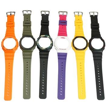 Resin strap case men and women watch accessories pin buckle for Casio G-SHOCK GA-2100 GA-2110 outdoor sports rubber watch strap недорого